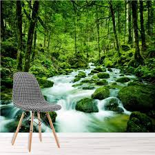 Green Forest Wall Mural Rainforest ...