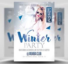 Winter Party Flyer Template - Flyerheroes