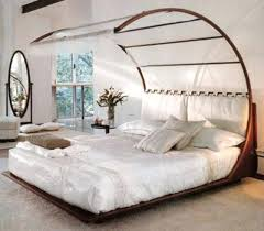 Mirror Canopy Bed Unique Canopy Bedroom Ideas With White Bedding And ...