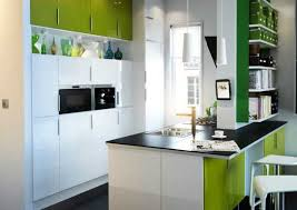 Beautiful Green And White Kitchen Cabinets And Island Painting Idea Design Ideas