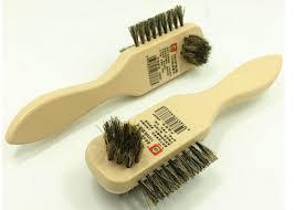 natural pig hair brush wood handle