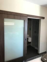 springhill suites san antonio north west at the rim barn door entry to bathroom