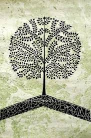 Small Picture Tree of life warli painting indian folk art contemporary style