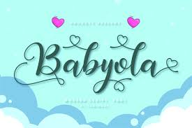 New weekly free cut files are released every friday! Babyola Font By Tonimouse Creative Fabrica Di 2020