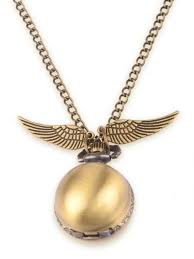 harry potter official wb snitch pocket watch necklace