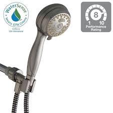 hand held shower head home depot. Waterpik Sacorro 6-Spray Handheld Showerhead In Brushed Nickel-NSL-659T - The Home Depot Hand Held Shower Head