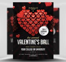 Valentines Flyers Valentines Ball Flyer Template Flyerheroes
