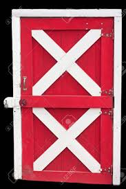 red and white barn doors. Barn Door Locked, Isolated In Red And White Stock Photo - 12647966 Doors O