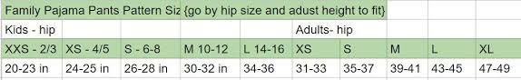 Pajama Jeans Size Chart Pajama Pants Pattern Free Pdf For The Whole Family Life