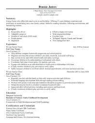 Nanny Resume Template Mesmerizing Full Time Nanny Resume Sample Offer Letter Template Willconwayco