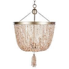 aidan gray pink pearl chandelier