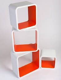 Floating Shelves Ireland Retro Floating Shelves Bookcase Cubes Shelving NEW Square White 19