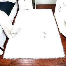 small pink sheepskin rug faux fur rugs size of white