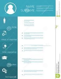 Resume Cv Template Design Stock Vector Illustration Of