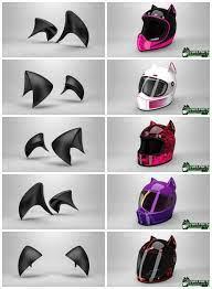 The cat ear motorcycle helmet upgrade. Cat Ear Racer Upgrade Womens Motorcycle Helmets Cool Motorcycle Helmets Motorcycle Women
