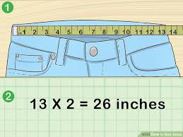 Haband Men S Size Chart 3 Easy Ways To Size Jeans With Pictures Wikihow