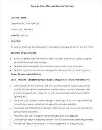 Collection Of Solutions Sample Banquet Manager Resume Great Sample