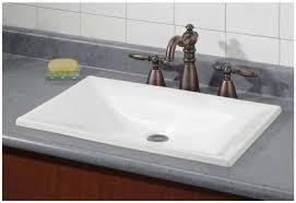 innovative ideas drop in bathroom sinks rectangular cheviot drop in bathroom sinks