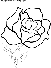 Small Picture Coloring Pictures Of Flowers For Kids Rose flower coloring pages
