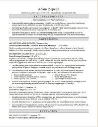 Sample Engineering Resume Inspiration Process Engineer Resume Sample Monster