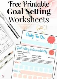 Daily Goals Template Free Printable Goal Setting Worksheets Organized 31