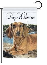 dachshund garden flag