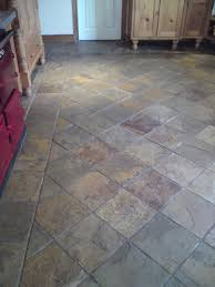 stone tile floor. Contemporary Stone Slate Tile Cleaning Before  To Stone Tile Floor N