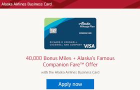 Alaska Airlines Business Card Get 40k Miles After You Spend 2k