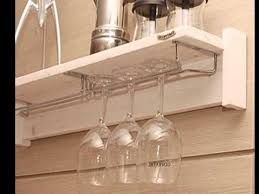 wine glasses racks holder wall mounted hanging wire metal corner rh you com hanging glass shelves bathroom hanging glass shelves bathroom
