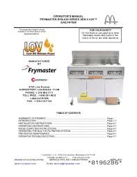 frymaster gas fryer wiring diagram wiring diagrams best biela14 series gen ii lov electric fryer chapter 1 frymaster fish fryer frymaster gas fryer wiring diagram
