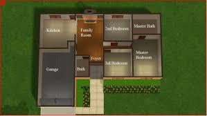 2 bedroom starter home plans best of house sims 3 starter house plans