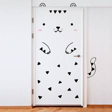 bedroom door decoration. Door Decals - Tiger Bedroom Decoration