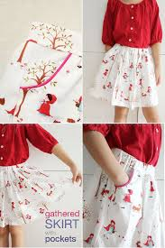 Skirt Patterns With Pockets Enchanting Free Pattern And Tutorial Skirt With Piped Pockets Japanese