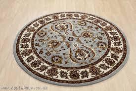 orient 113 light blue round rug