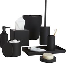 modern bathroom accessories sets. Rubber Coated Black Bath Accessories Modern Bathroom Sets N