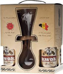 in the photo image bosteels pauwel kwak gift set 4 bottles gl