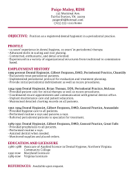 Dental Hygiene Resume Musiccityspiritsandcocktail Com