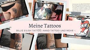 On several occasions, billie has flaunted some ink, leaving fans wondering whether billie eilish has a neck tattoo. Tattoo Tour Update Billie Eilish Hand Tattoo Und Mehr Youtube