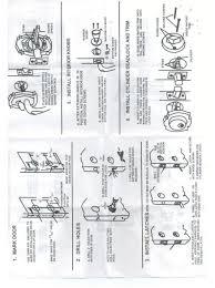 front door knob inside. Front Door Handle Set Installation Instruction Page 1 Knob Inside G