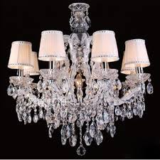 european modern k crystal lamp chandelier lamp living room lamp bedroom lamp shade restaurant special white cool chandelier lamp shades