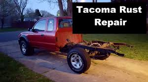 Toyota Tacoma Frame Rust Repair Episode 1 of 2 - YouTube