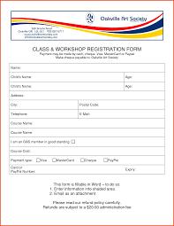 Download Registration Form Template Form Child Registration Form 24