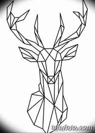 эскиз тату олень 23022019 017 Sketch Tattoo Deer Tatufotocom