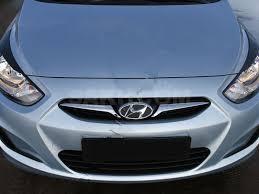 <b>Накладки на передние фары</b> (реснички) Hyundai Solaris седан ...