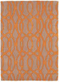 matrix  wire orange  grey thick wool rug  max  martin