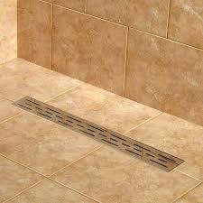 linear drains shower slot drain pan schluter kerdi wall line tray kudos base show
