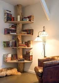 decorative corner wall shelves design