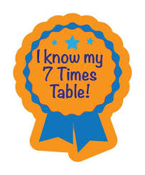 I Know My 7 Times Table Maths Stickers