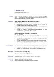 Business Development Resume Resumes Manager Format Sample Objectives