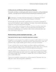Self Performance Manager Review Example Forms By Employee Sample